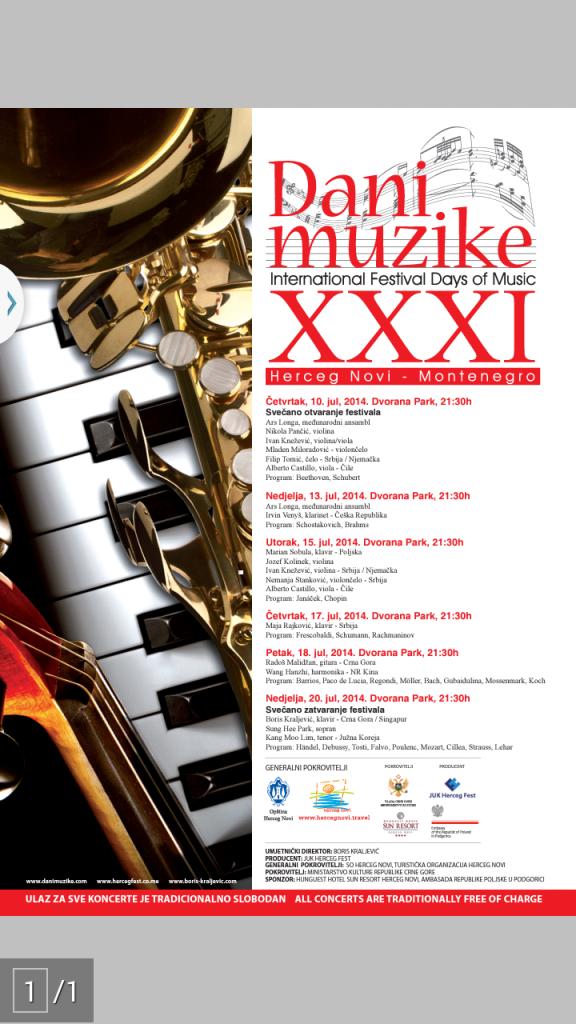 Poster Dani muzike